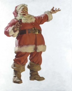 Santa Claus, Coca-Cola advert, by Haddon Sundbloom, 1931