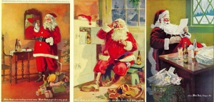 Santa Claus, White Rock Ginger Ale adverts from the 1920s